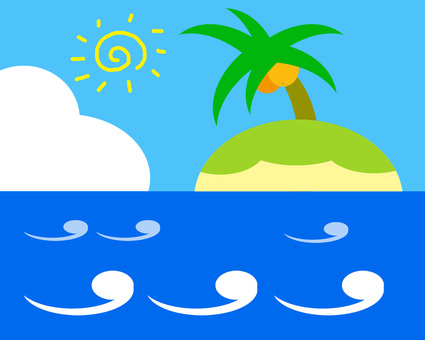 Illustration of the sea