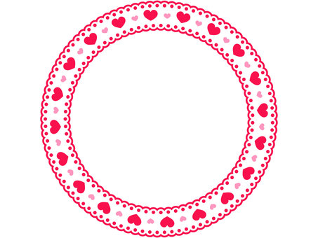 Round frame 1 of heart-shaped lace 1
