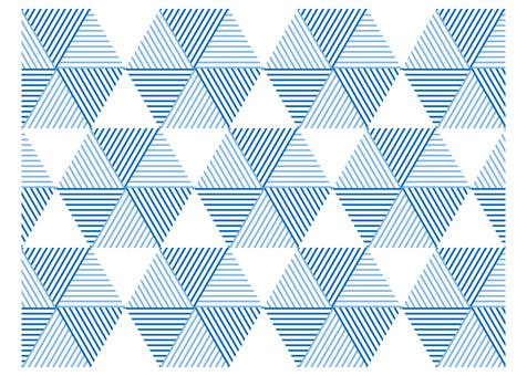 幾何圖案三角形六角形藍色