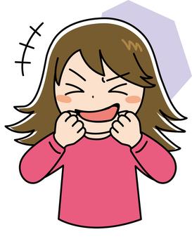 女孩滑稽笑2