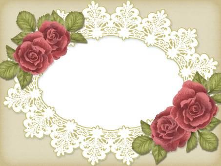 Antique style rose and lace frame 4