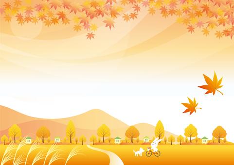 One piece of autumn landscape