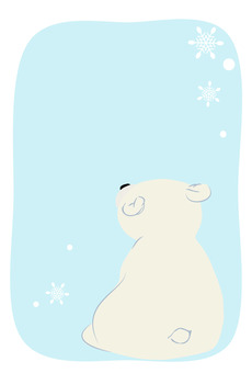 Shirokuma-kun and snowflakes