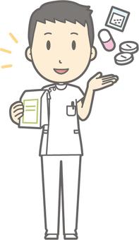 Male nurse - medicine - whole body