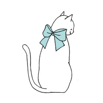 Cat and Ribbon