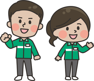 Two heads_Convenience store staff_Foreigners