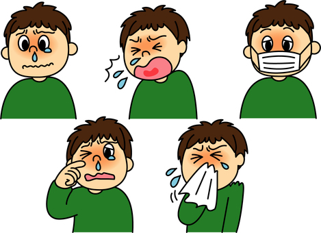 Symptoms of hay fever / cold