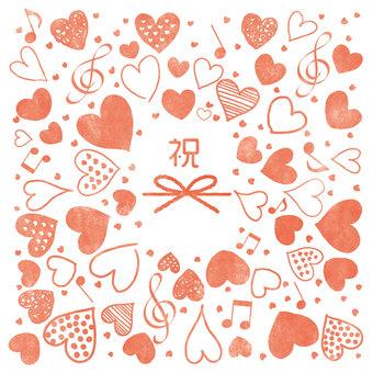 Trái tim 28_10 (chúc mừng · màu nước)