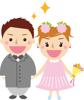 Wedding newlywed couple