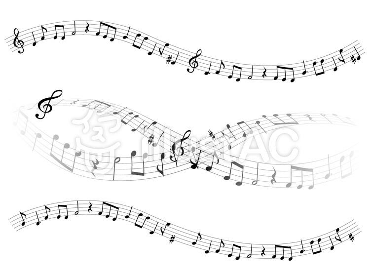 音楽音符イラスト05流れる音楽イラスト No 533015無料イラスト