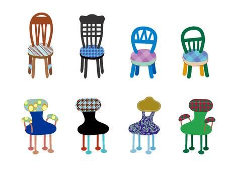 Interior _ chair _ blue