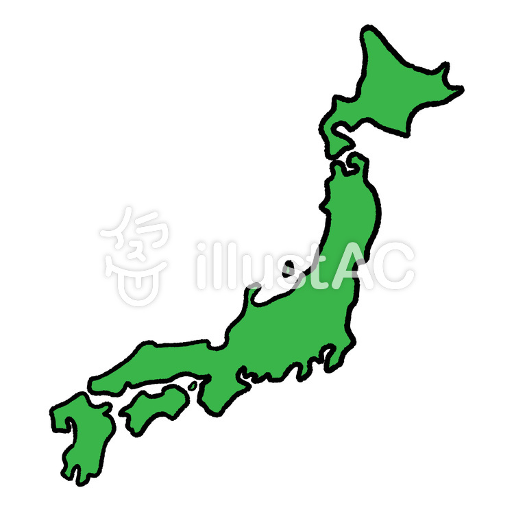 だいたいな日本地図沖縄等除くイラスト No 1338302無料イラスト