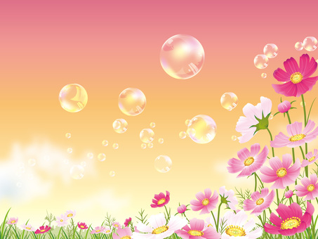 Soap bubble floating in the cosmos field Background 01
