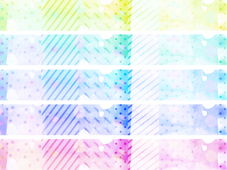 Colorful sticky note rectangle 1