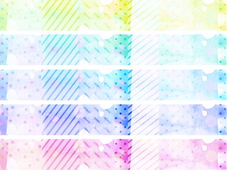 다채로운 스티커 사각형 1