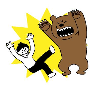 A man who encountered a bear (simple)
