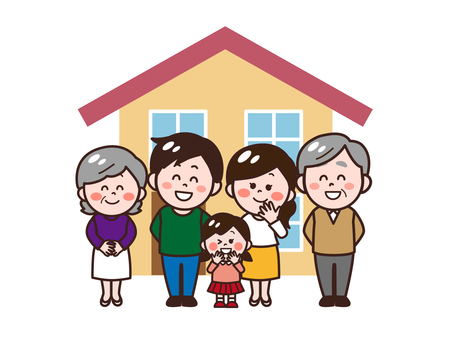 House and three-family family (living together) girls