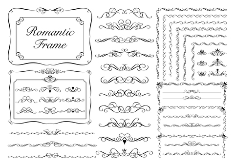 Romantic frame_black