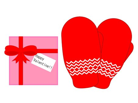 Heart gloves and Valentine