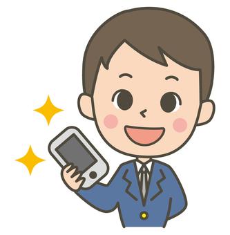Make a phone call (male student)