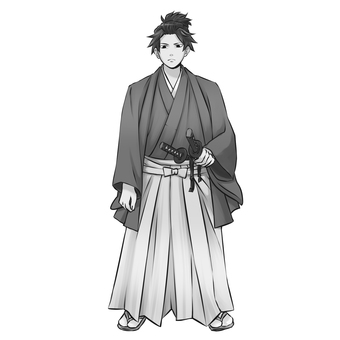 Samurai 1 (monochrome)
