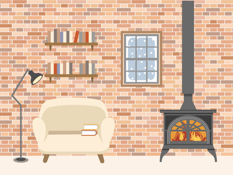 Interior _ wood stove _2