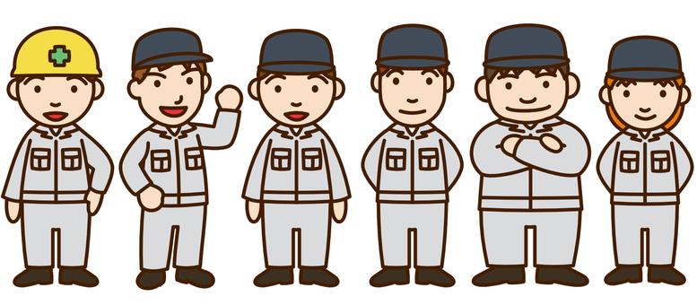 工場作業者たち