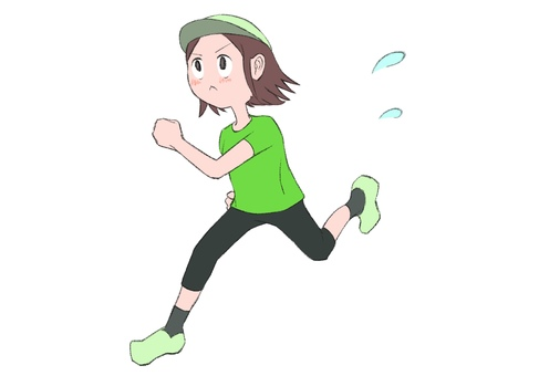 Illustration of a running woman