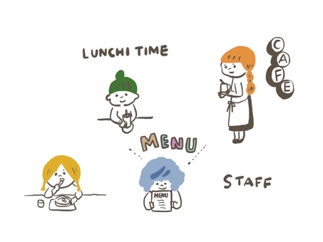 Cafe staff lunch time