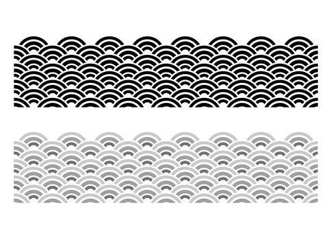 Wave pattern _ black