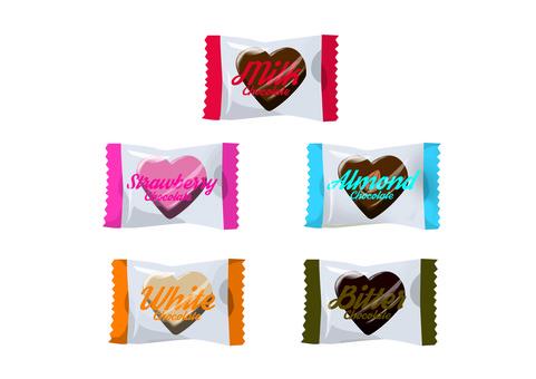 Individual packaging chocolate