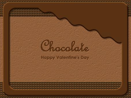 Chocolate frame board Chocolate Nimi Nami tea