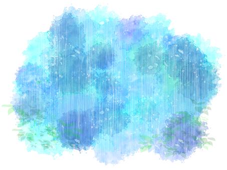 Watercolor moist rain