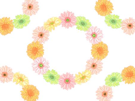 Gerbera flower crown frame -05