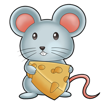 Mice holding cheese