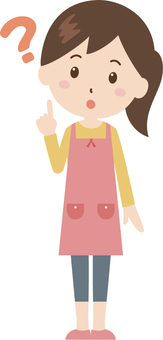 Woman | housewife | apron | Hatena