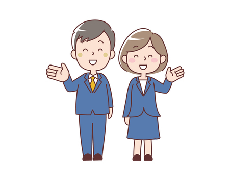 Men and women in suits _ young