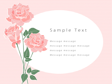 Rose Postcard 02 (Pink)