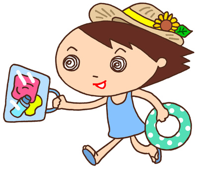 Elementary school character character · summer vacation