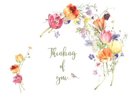 Flower frame 258 - Message card