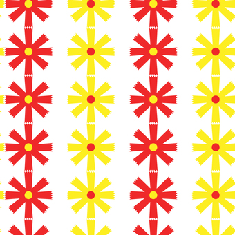 昭和レトロ柄:花