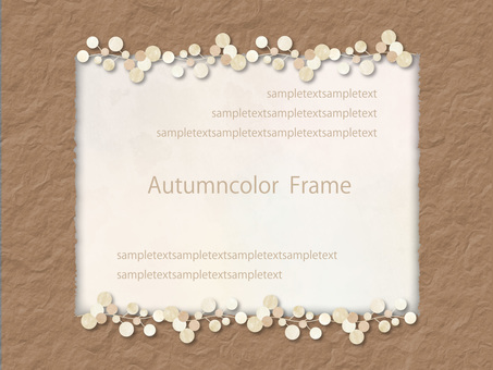 Autumn color frame ver 84