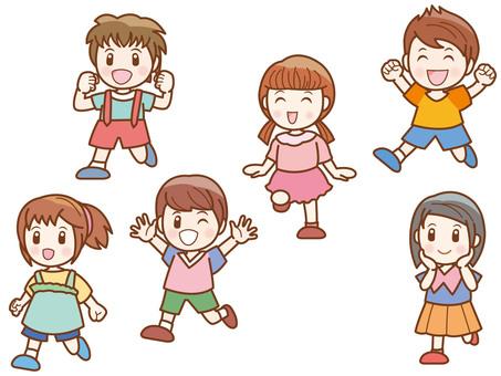 Running children line B
