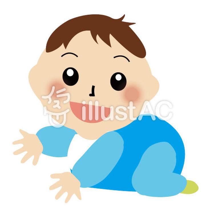 赤ちゃんはいはいイラスト No 443458無料イラストならイラストac