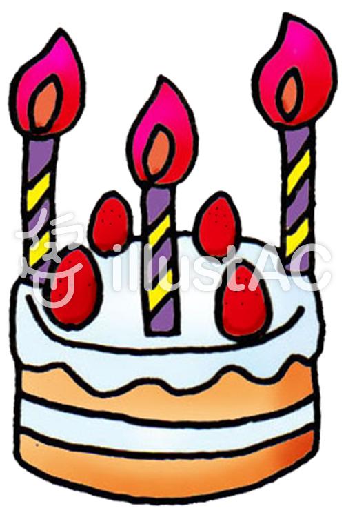 バースデーケーキ 可愛い イラストイラスト No 1177653無料イラスト