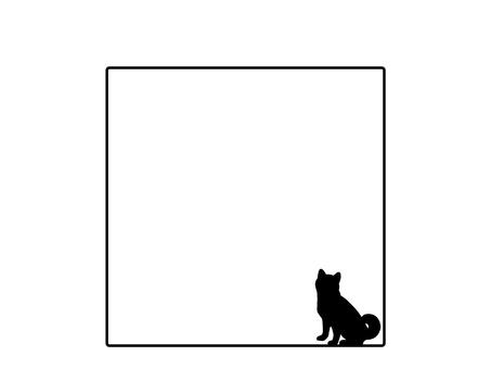 方形框架狗