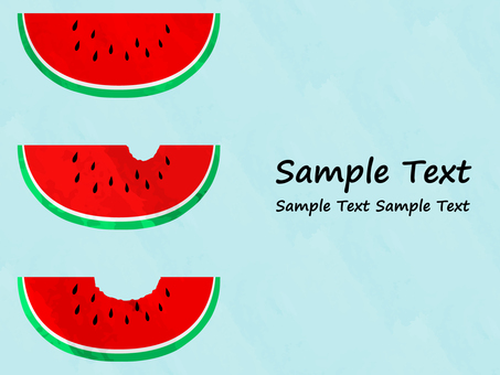 Watermelon Background Material No. 2