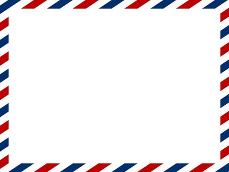 Tricolor diagonal stripe frame
