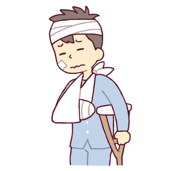 A man wrapped in a bandage
