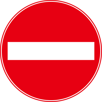 No entry mark